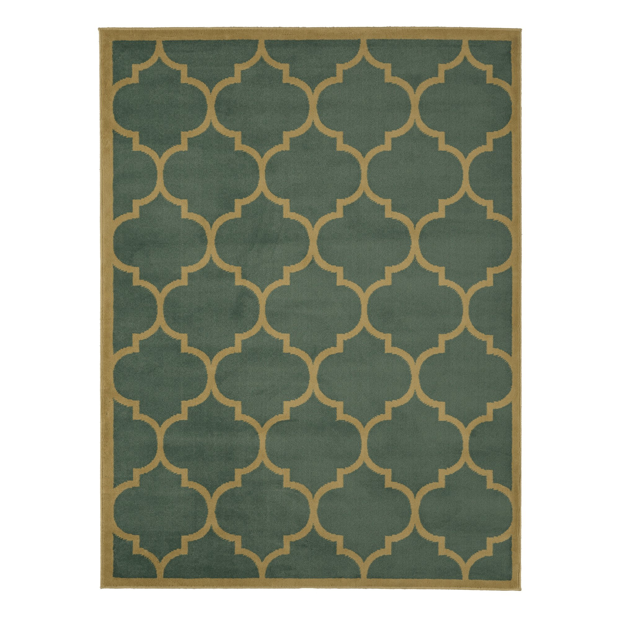 Sweet Home Stores Clifton Collection Moroccan Trellis Design Area Rug, 7'10'' X 9'10'', Seafoam by Sweet Home Stores (Image #4)