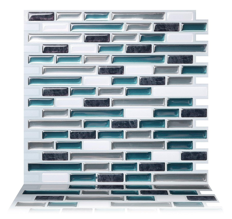 (5, Como Bay) - Tic Tac Tiles - Premium Anti-mould Peel and Stick Wall Tiles (5, Como Bay) B06XFJF8KQ 13062 Como Bay 5 Como Bay