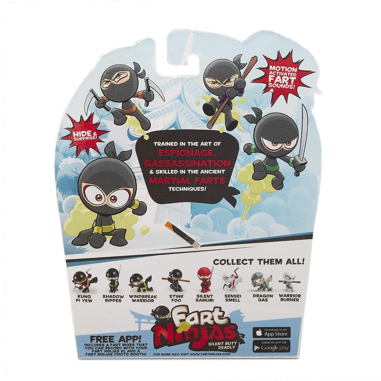 Fart Ninjas Sensei Smell (White/Red) Juguete, Color Blanco y Rojo, 8.9-Centimetres (Funrise International 70511)