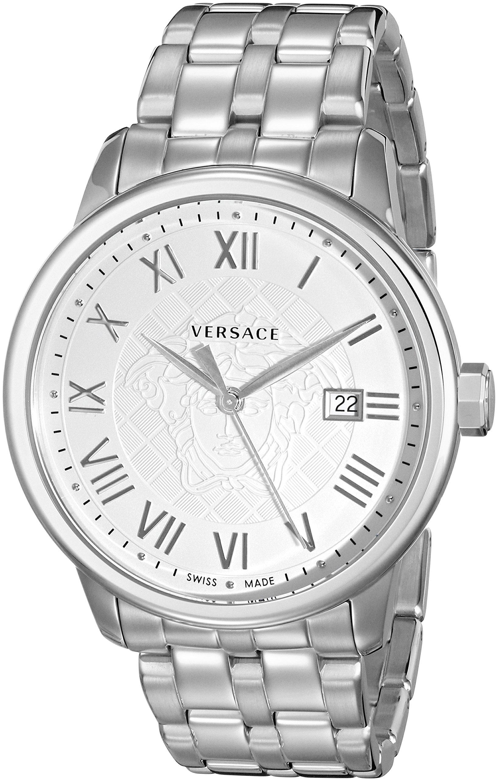 Versace Men's VQS040015 Business Analog Display Quartz Silver Watch by Versace