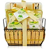 Giftsational Spa Gift Basket with Green Tea Fragrance, Great Birthday or Mothers Day Gift for Women - Spa Bath Gift Set Inclu
