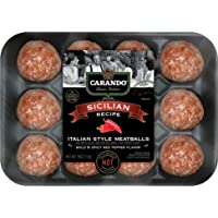 Carando, Fresh Italian Style Sicilian Uncooked Meatballs, Hot Blended Cheese and Herbs, 16 oz (Frozen)
