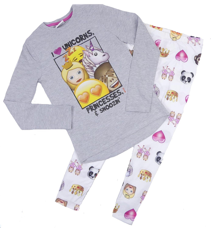 Older Girls Emoji Pyjama Lounge Wear 10-11 Years ONLY Long Sleeved Trouser Set