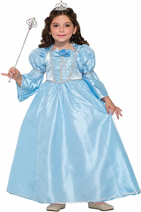 Forum Novelties Girls Blue Belle Princess Costume, Blue, Medium
