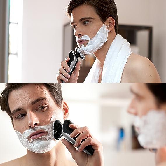 Philips Serie 9000 S9711/32 - Máquina de afeitar con cabezales de 8 direcciones, seco/húmedo, 3 modos y sistema de limpieza SmartClean, incluye perfilador de barba y funda de viaje, plata: Amazon.es: Electrónica