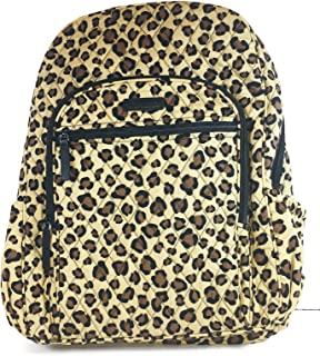 ffe08462d773 Vera Bradley Campus Backpack with Solid Color Interior (Updated Version ( Leopard with Black Interior
