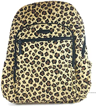 54e409fd4 Amazon.com | Vera Bradley Campus Backpack with Solid Color Interior  (Updated Version (Leopard with Black Interior) | Casual Daypacks