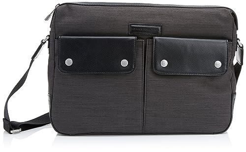 Tommy Hilfiger Clement Messenger - Bolso de Hombro de Cuero Hombre, Color Negro, Talla 38x28x8 cm (B x H x T): Amazon.es: Zapatos y complementos