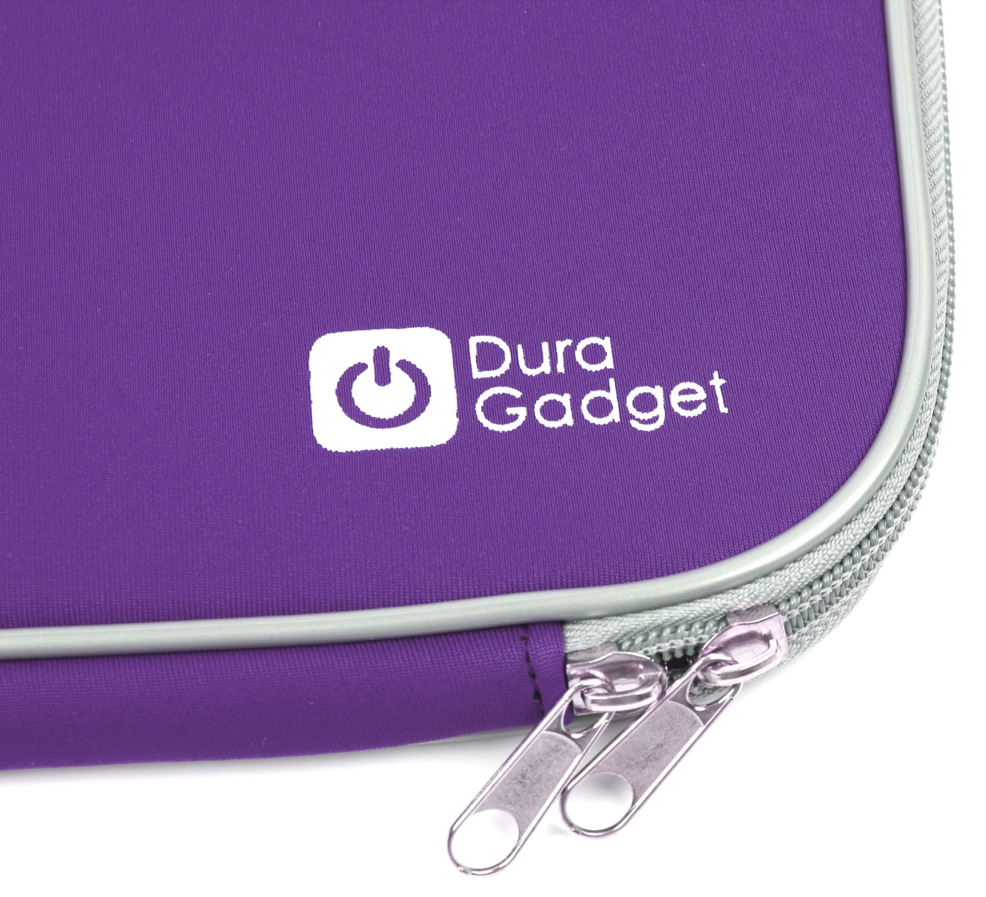 DURAGADGET Purple Travel Water Resistant & Shock Absorbent Neoprene Laptop Sleeve with Dual Zips Compatible with The Lenovo Ideapad 110 15'' | Ideapad 305 15.6'' Laptop by DURAGADGET (Image #4)