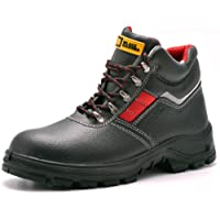 Mens Safety Boots S3 SRC Steel Toe Cap Work Shoes Ankle Leather Steel Mid Sole Protection Black Hammer 5993