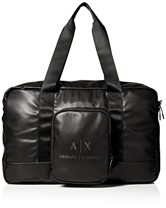 7bf911f28da9 Amazon.com  Armani Exchange Men s Logo Duffle Bag