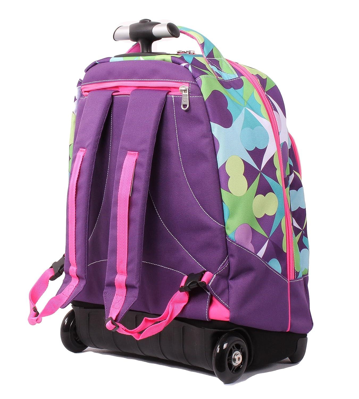 8003409fe7 Seven Trolley Fit - Floral - Viola Verde - Spallacci a Scomparsa! Zaino 35  LT Scuola e Viaggio: Amazon.it: Sport e tempo libero