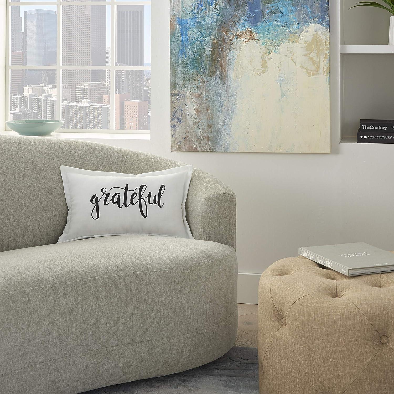 """kathy ireland Home Kathy Ireland Pillow 12"""" x 20"""", 12""""X20"""", White"""