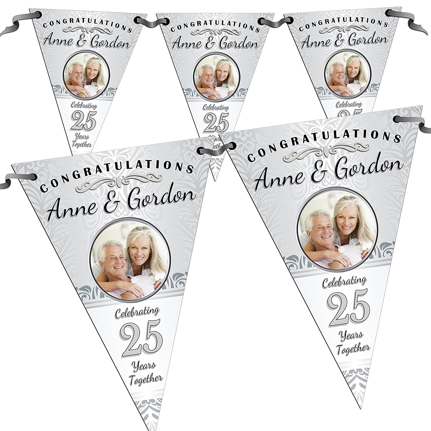 Personalised First 1st Wedding Anniversary Party Decoration Banner Bunting