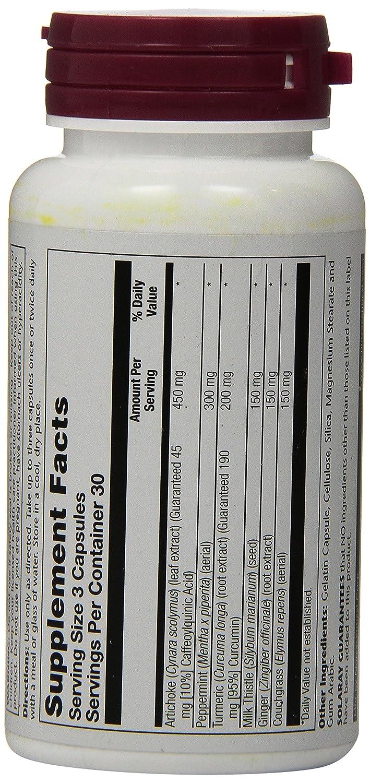 Solaray Gallstonex Artichoke Special Formula 90 Ct: Amazon.es: Salud y cuidado personal