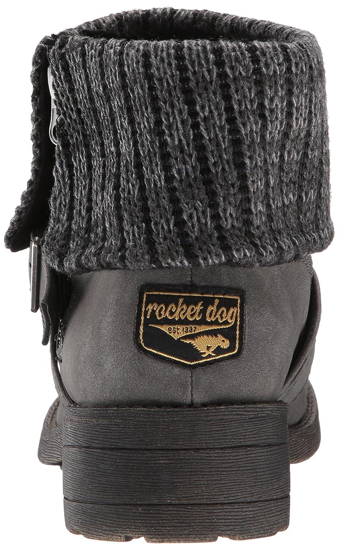 Rocket Dog Women's Tobie Suspect PU Herman Knit Motorcycle Boot