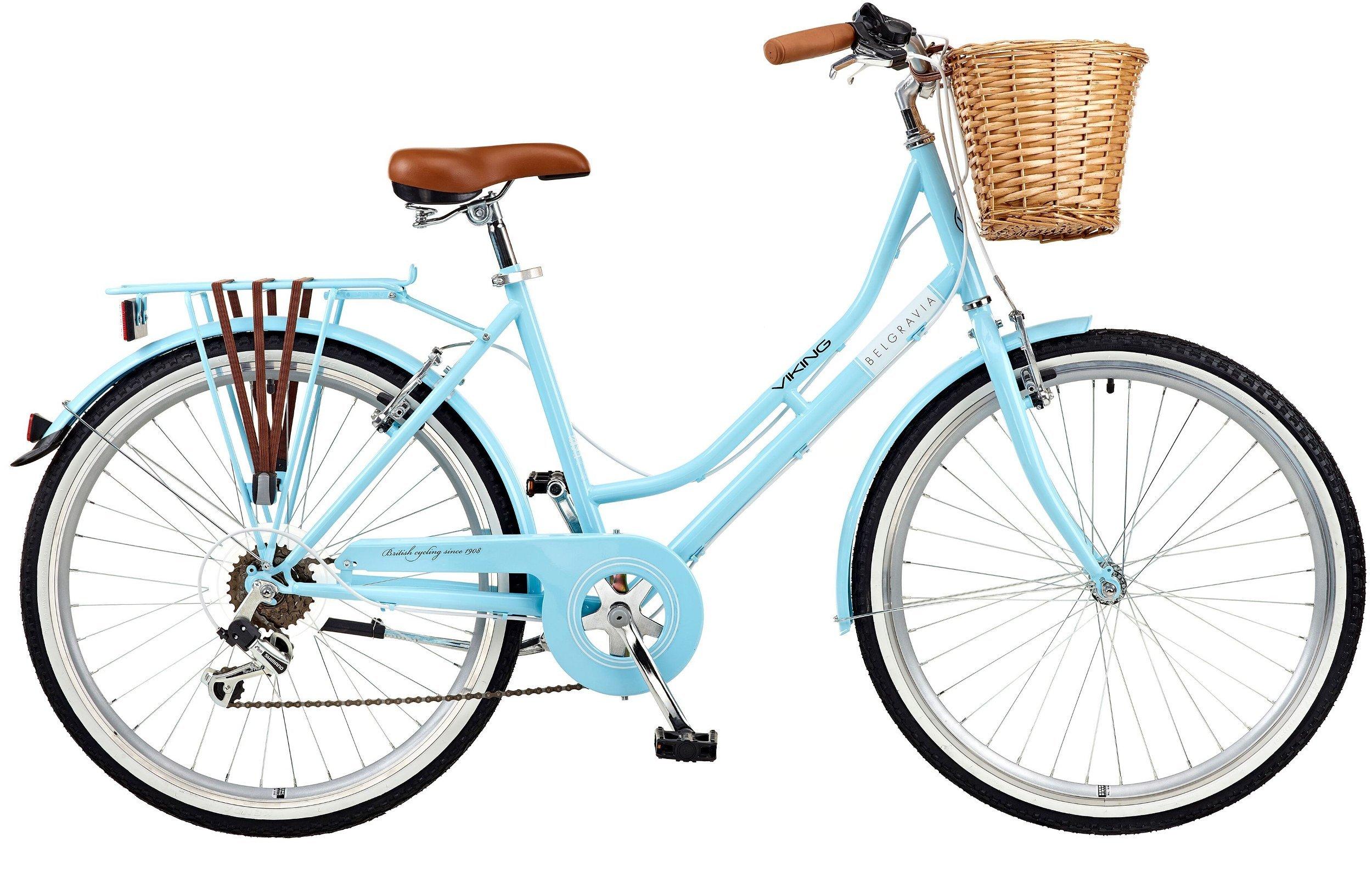 "Viking 2018 Belgravia Ladies Traditional Hertiage 26"" Wheel 6 Speed Bike 18"" Pink"