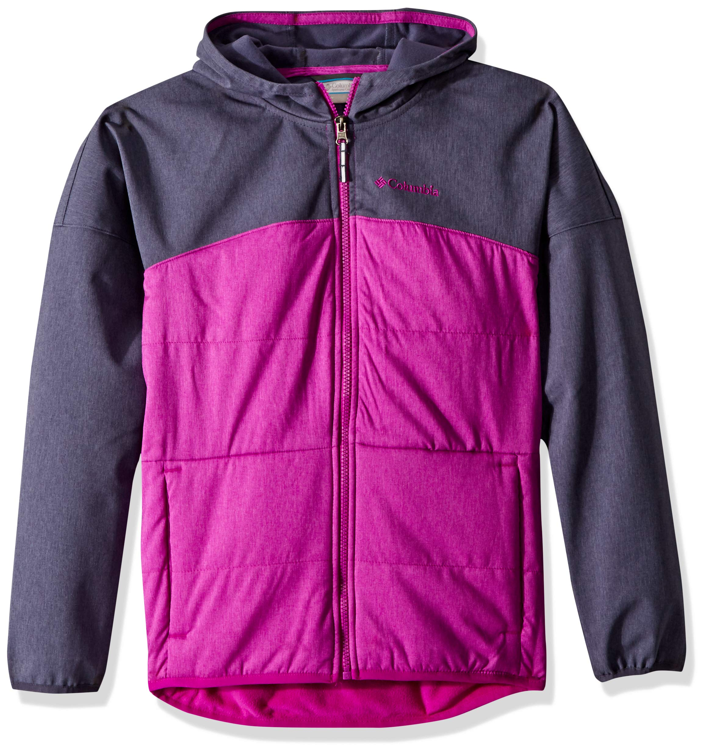Columbia Little Girl's Take A Hike Softshell Top, Small, Nocturnal/Bright Plum