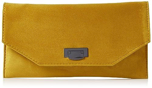 New Look - Erika, Carteras de mano Mujer, Amarillo (Dark Yellow),