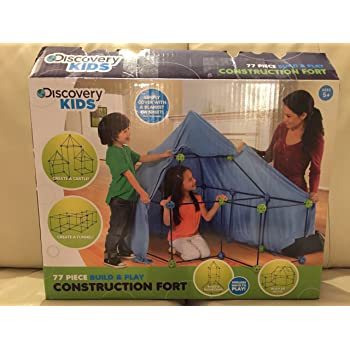 Amazon Discovery Kids Construction Fort 77pc Build Play