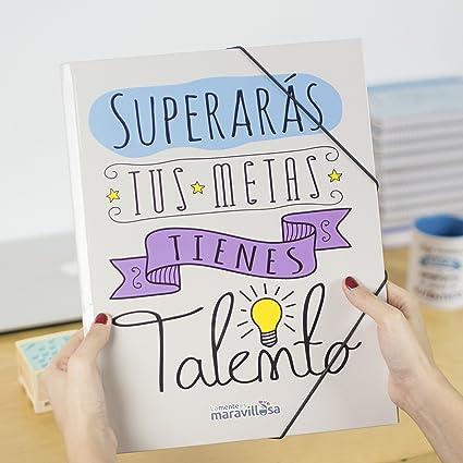 La Mente Es Maravillosa Carpeta Con Frase Y Dibujo Divertido Para Regalo Amiga Diseño Talento