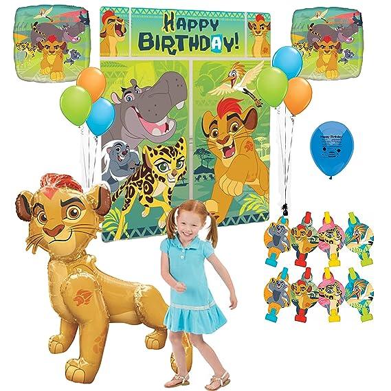 Amazon.com: Lion Guardia Fiesta de cumpleaños Escena Setter ...