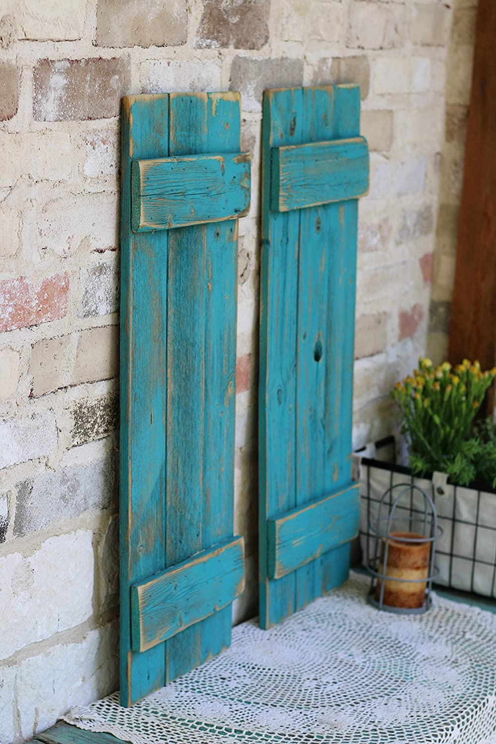 Turquoise Farmhouse Shutters