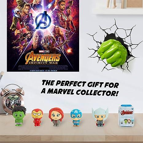 Marvel Figuras para Niños, Pack 5 Muñecos Gomas de Borrar Coleccionables, Puzzle Superheroes con Los Vengadores Capitan America Iron Man Hulk, Regalos Originales para Ninos: Amazon.es: Juguetes y juegos