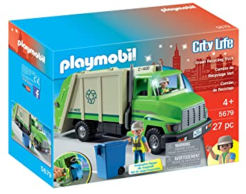 Playset Green Truck Recycling Playset Playmobil Playmobil Recycling Green Truck 3q54AjRcL