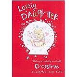 "Hallmark Winnie the Pooh Daughter Christmas Card ""With Love"" - Medium"
