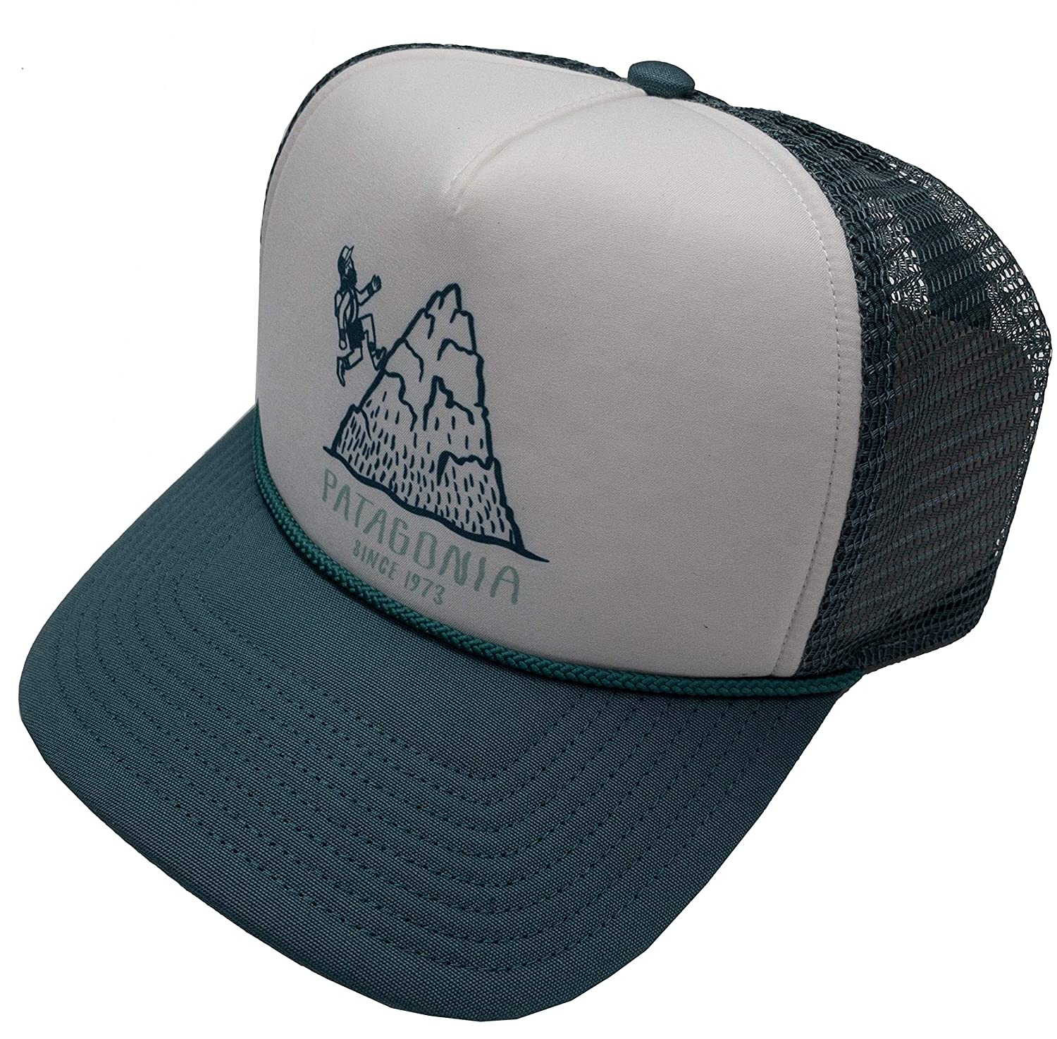 Patagonia Adult Mesh Adjustable Snapback Trucker Cap Hat (Teal ...