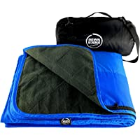 Premium Large Waterproof, Windproof, Quilted Fleece Picnic Rug & Outdoor Blanket for Camping, Beach, Travel, Stadium…