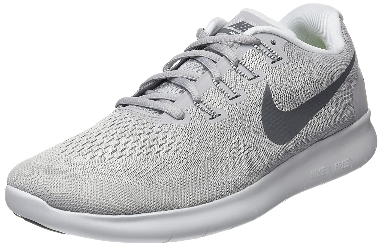 NIKE Men's Free RN Running Shoe B06XY3FKMS 8.5 D(M) US|Grey/Dark Grey-pure Platinum