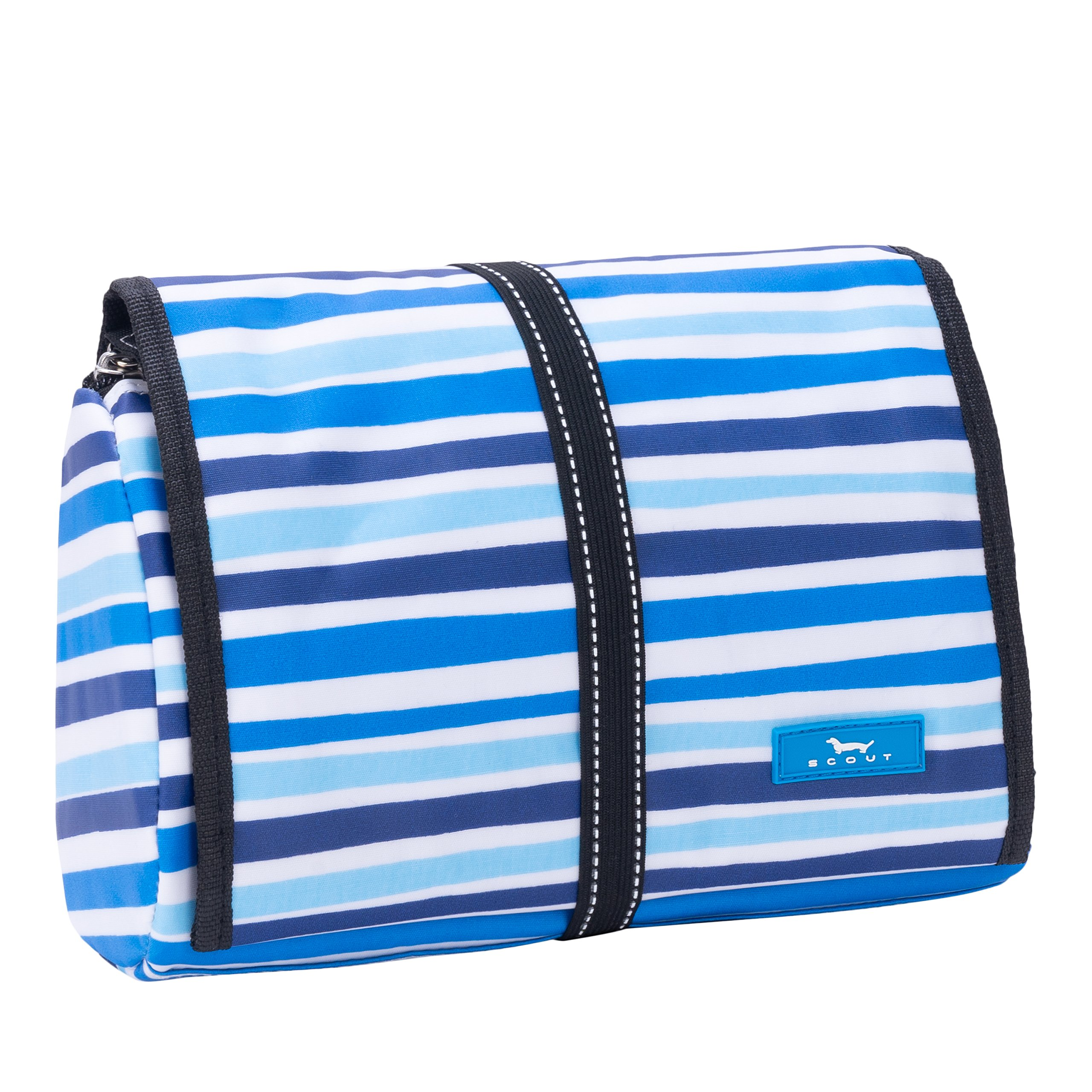 SCOUT Beauty Burrito Hanging Toiletry & Cosmetic Bag, Elastic Band Closure, Water Resistant, True Blue