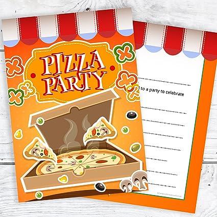 buy olivia samuel pizza party invitations kids invites ready to