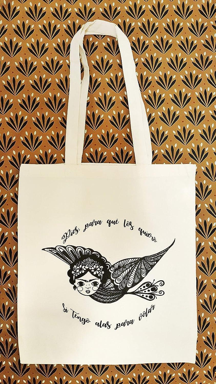 Tote bag ispirazione Frida Kahlo - cotone ecologico - Messico - Regalo per donna - Regalo di Natale