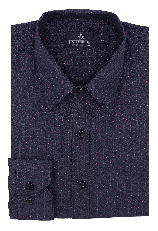 Vittorino Boys Dress Shirt with Matching Bowtie and Suspenders Set