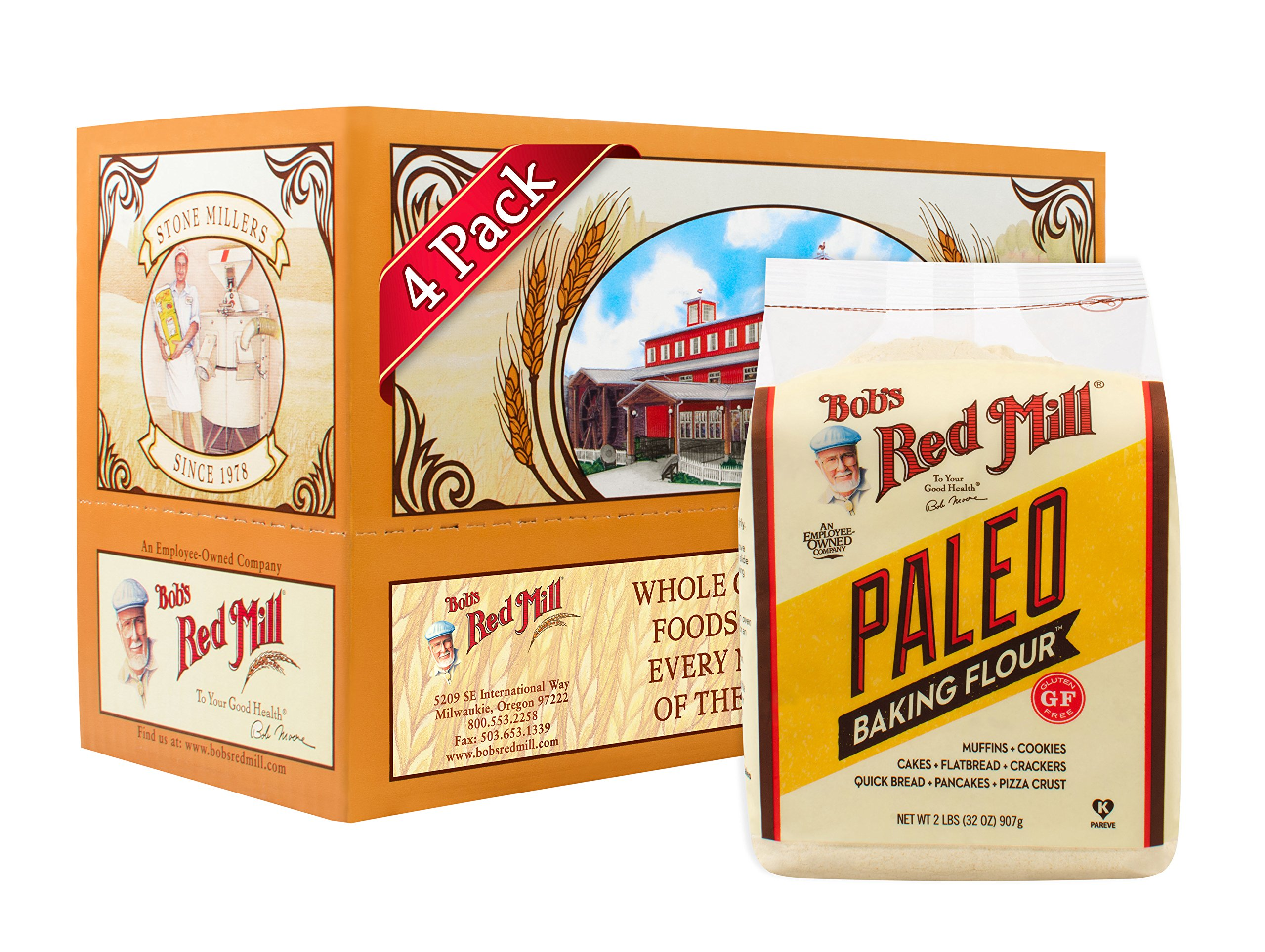 Bob's Red Mill Paleo Baking Flour, 32 Ounce (Pack of 4)