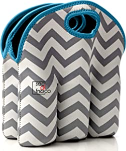 Vettore Neoprene 6 Pack Bottle Carrier, Extra Thick Insulated Baby Bottle Cooler Bag Keeps Baby Bottles Cold or Warm Great as