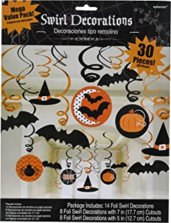 amscan new age scare halloween party witches bats swirl ceiling hanging decoration 30 piece