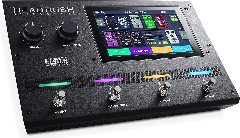 HeadRush Gigboard - Procesador de modelado de amplificadores y efectos de guitarra ultraportátil con software DSP Eleven HD Expanded, pantalla táctil de 7 pulgadas, looper, compatibilidad IR