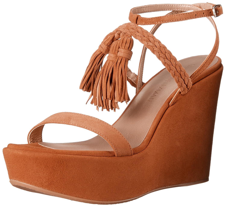 Stuart Weitzman Women's TASSPARLOUR Wedge Sandal B019ZFPOSI 10 B(M) US Camel