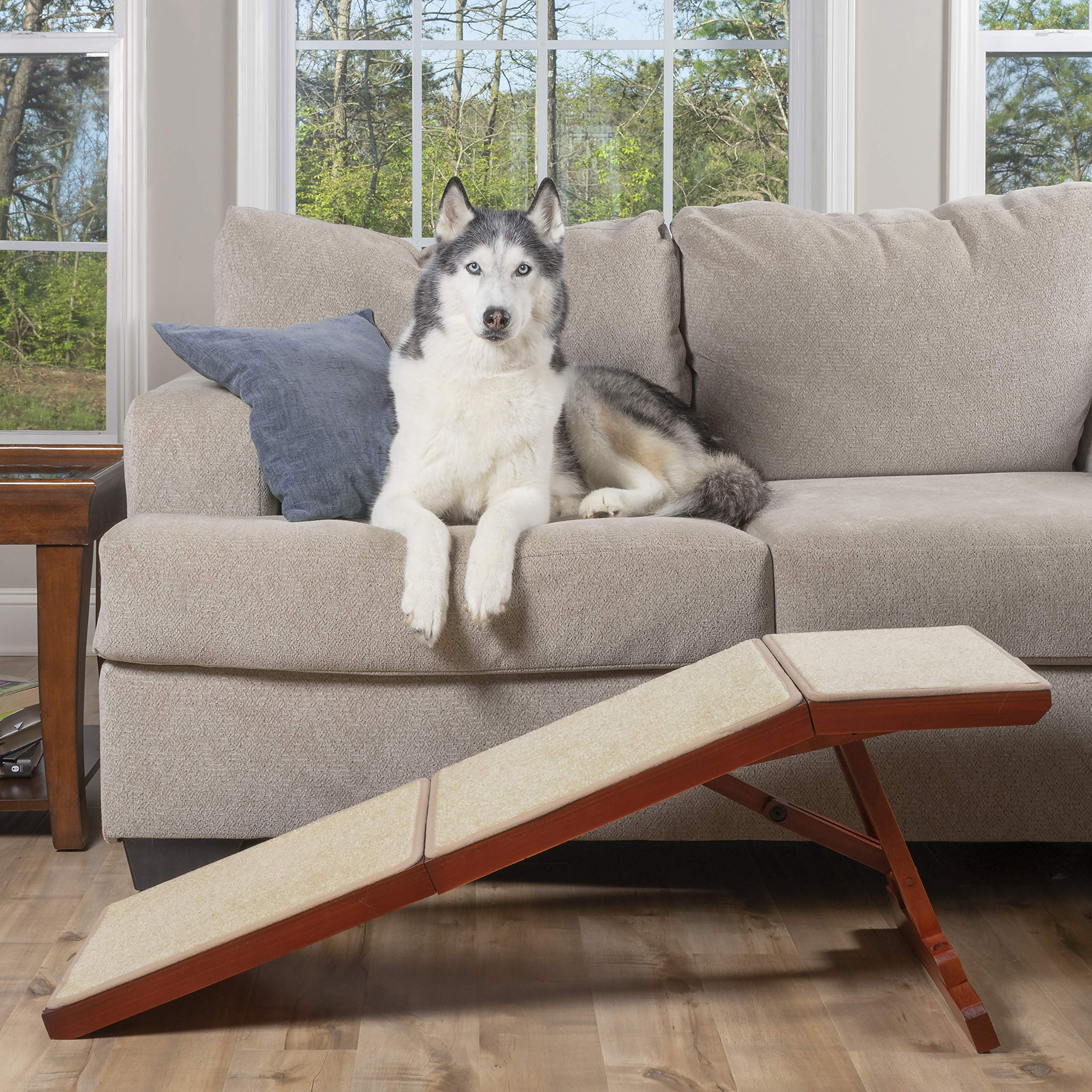 PetSafe Solvit Wood Sofa Ramp, 45 in. L Wood Pet Ramp Supports Cats and Dogs Up to 100 lb. by PetSafe