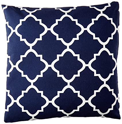 Amazon Com Fbts Prime Outdoor Decorative Pillows With Insert Navy