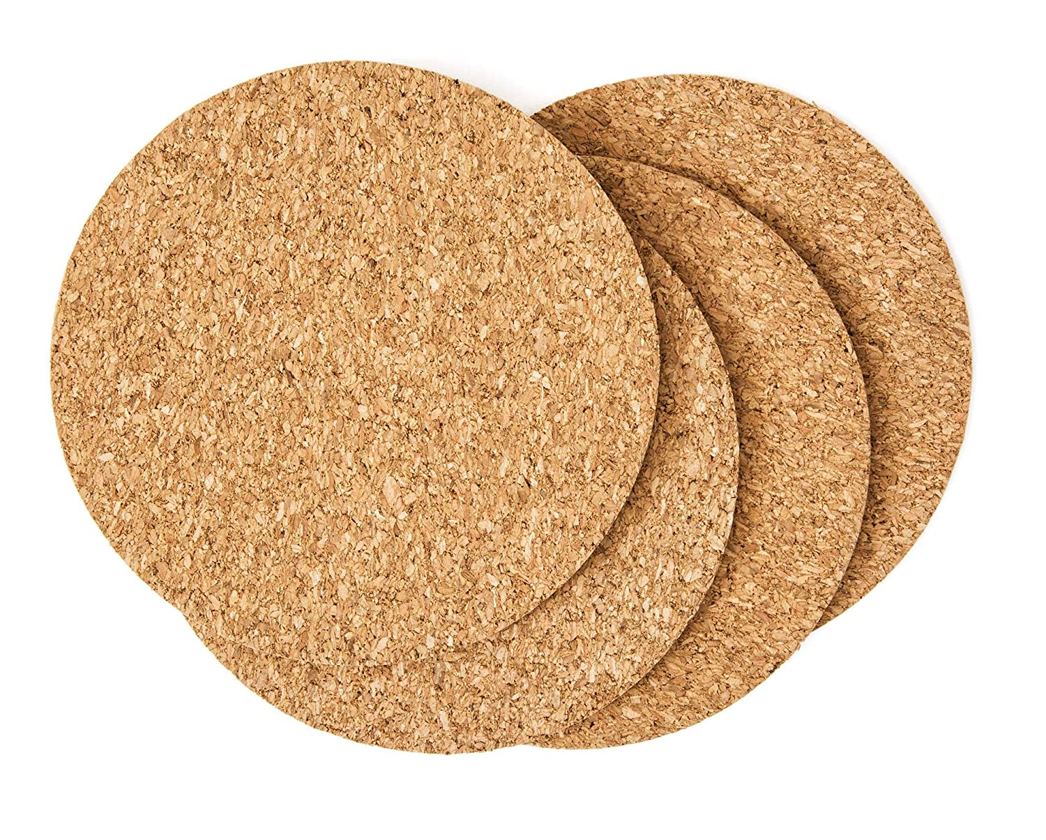 """Cork Drink Coasters 1/8"""" Thick 30 Pack - Home Bar and Kitchen Essential - Blank Reusable Absorbent Eco-friendly DIY Project Tile Craft Board - Restaurant Cafe Wedding Supplies and Accessories"""