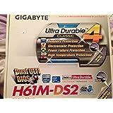 Gigabyte GA-H61M-DS2DVI placa base (Socket 1155, H61, Micro ATX, DDR3, pc-1333)