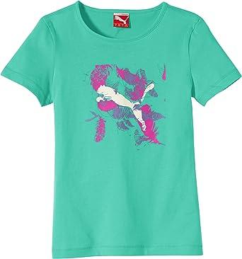 PUMA Graphic tee - Camiseta para niña Verde Electric Green Talla:15 años (164 cm): Amazon.es: Ropa y accesorios