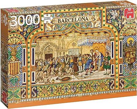 Jumbo- Tiles of pcs Azulejos de Barcelona, Puzzle de 3000 Piezas (618590): Amazon.es: Juguetes y juegos