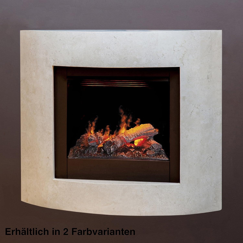 Rubyfires Elektrokamin Elektrofeuer Kaminfeuer Vano Mystic Fires RF 50 Oberfläche Fossil Stone schwarz