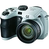 GE Power Pro X500-WH 16 MP with 15 x Optical Zoom Digital Camera, White (OLD MODEL)
